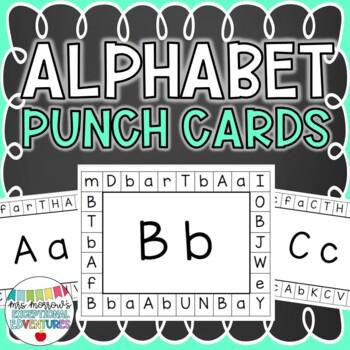 Alphabet Punch Cards {Pre-K & Kindergarten Letter Identifi
