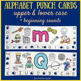 Alphabet Punch Cards with Beginning Sounds Pictures