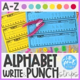 Alphabet Punch and Write Strips A-Z ● Letter Center ● Alph