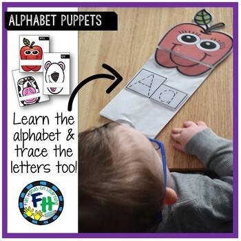 Alphabet Puppets {Trace-It!}