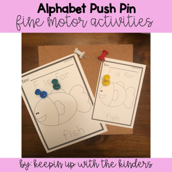Alphabet Push Pin Fine Motor Activity Full and Half Sheets