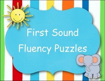 First Sound Fluency Puzzles!