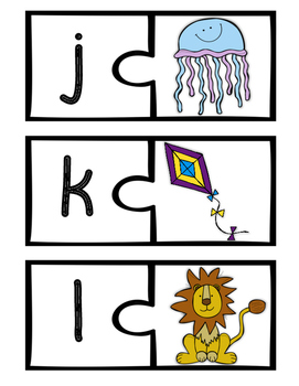 Alphabet Puzzle Cards - A Matching Game (Uppercase and Lowercase)