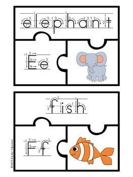 Alphabet Puzzle Center, Letter of the Week Activity, Handwriting Practice