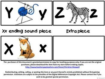 Alphabet Puzzle Match Sounds and Letters