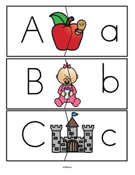 Alphabet Puzzle Match-Ups Centers - 3 Sets - Preschool and Kindergarten