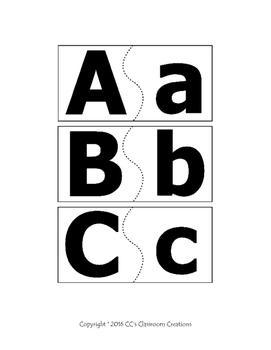 Alphabet Puzzle Matching