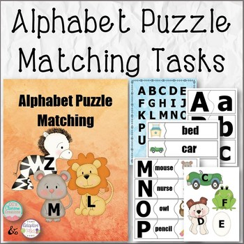 Alphabet Puzzle Matching Tasks, Poster, and Props
