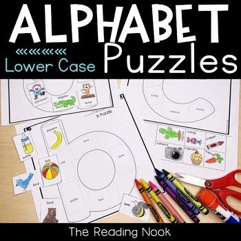 Alphabet Puzzle Worksheets - Lowercase