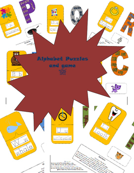 Alphabet Puzzle and Matching Game