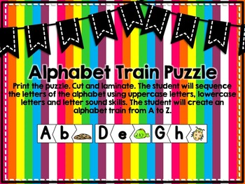 Alphabet Puzzle and Train {Puzzles and Accountability Printables}