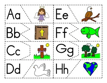 Alphabet Christian Theme Puzzle Activity