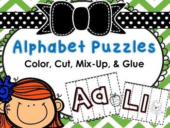 Alphabet Puzzles (Color, Cut, & Glue)