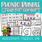 Phonics Centers and Games Bundle