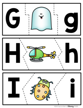 Beginning Sounds and Letters Puzzles