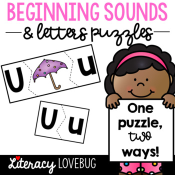 Letter and Beginning Sound Puzzles