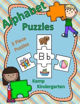 Alphabet Puzzles (5 Piece Puzzles)