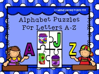 Alphabet Puzzles A-Z For Pre-K and Kindergarten