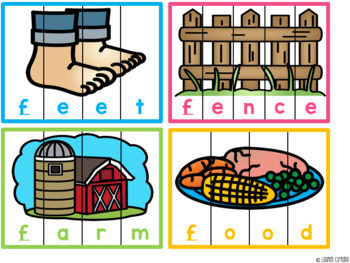 Alphabet Beginning Sound Puzzles Activity