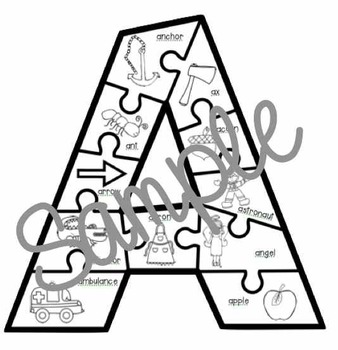 Alphabet Puzzles: Beginning Letter