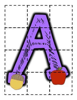 Alphabet Puzzles {Capitals ONLY}