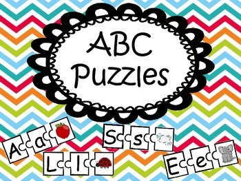 Alphabet Puzzles  Color & BW