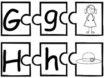 Alphabet Puzzles  Color & BW