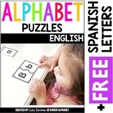 Alphabet Puzzles {English plus Free Spanish Letters}