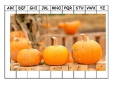 Alphabet Puzzles Fall Halloween Leaves Pumpkins Thanksgivi