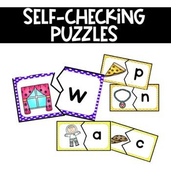 Alphabet Puzzles Initial Sound Fluency