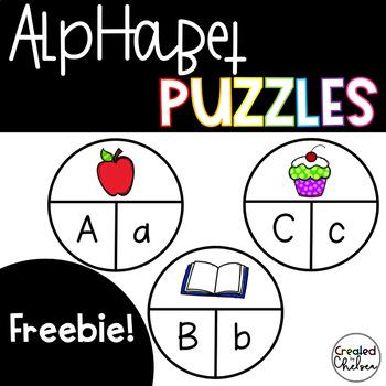 Alphabet Puzzles {Freebie!}