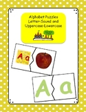 Alphabet Puzzles: Letter-Sound Matching and Uppercase-Lowe