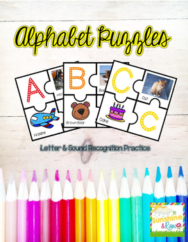 Alphabet Puzzles: Letter and Sound Recognition