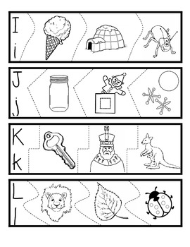 Alphabet Puzzles: Letters and Pictures