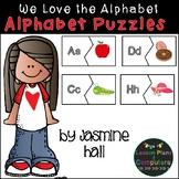 Alphabet Puzzles Literacy Centers #spookysale