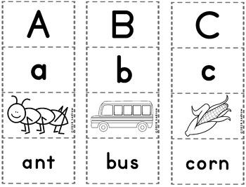 Alphabet Puzzles Literacy Center Beginning Sounds Kindergarten Preschool SPED