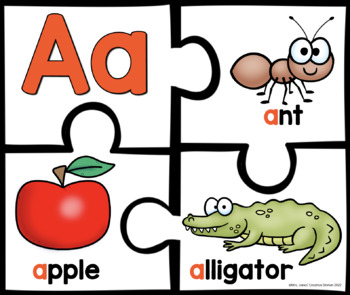 Alphabet Puzzles {Now I Know My ABC's Series}
