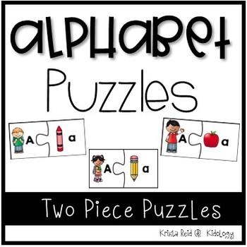 Alphabet Puzzles - School Theme