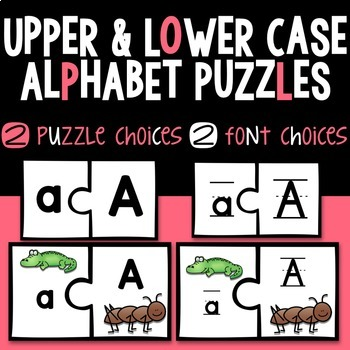 Alphabet Puzzles: Upper & Lower Case Matching