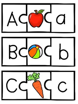 Alphabet Puzzles and Clip Cards
