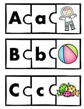 Alphabet Puzzles and Practice Pages