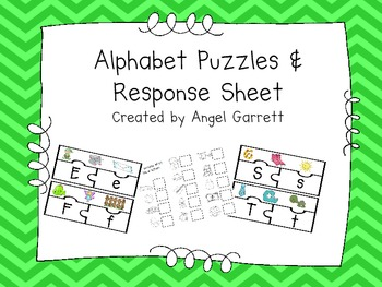 Alphabet Puzzles and Response Sheet