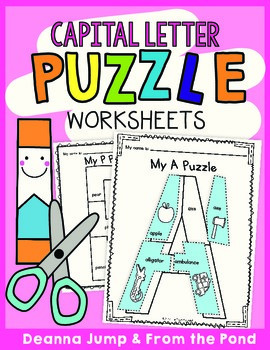 Alphabet Puzzles for Uppercase Letters