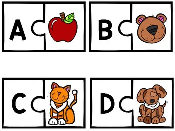 Alphabet Puzzles with Beginning Sound Pictures