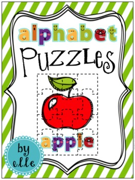 Alphabet Puzzles with Pictures