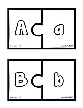 Alphabet Puzzles with Recording Sheets