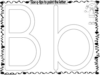 Alphabet Q-Tip Painting! Literacy Center or Letter of the Day