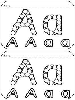 Alphabet Q-Tip Painting Pages- Preschool or Kindergarten Word Work