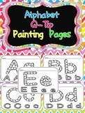 Alphabet Q-Tip Painting Pages- Preschool or Kindergarten Word Work