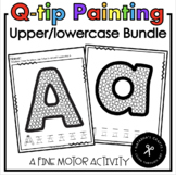 Q-tip Painting Alphabet Bundle Lower/Uppercase Letters